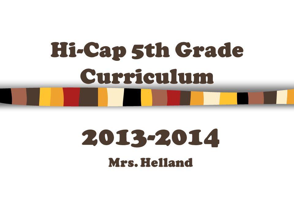 Hi-Cap 5th Grade Curriculum