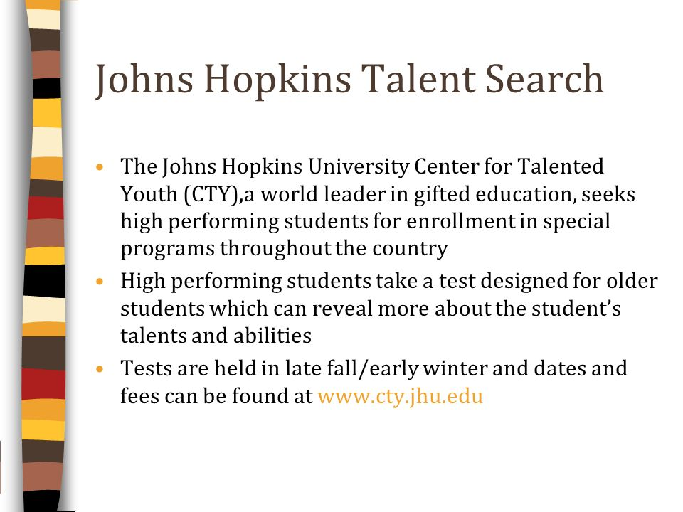 Johns Hopkins Talent Search