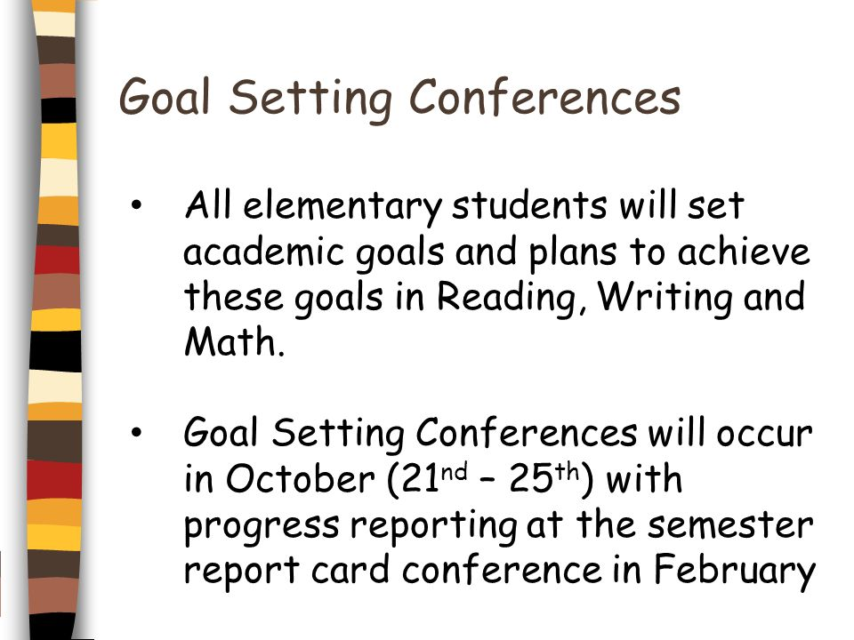 Goal Setting Conferences