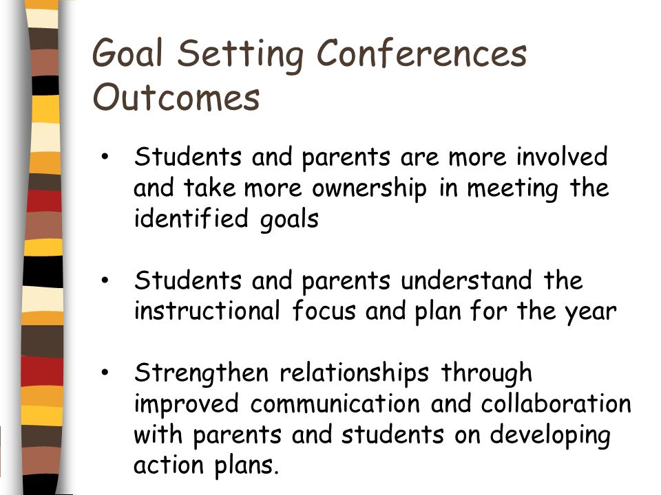 Goal Setting Conferences Outcomes