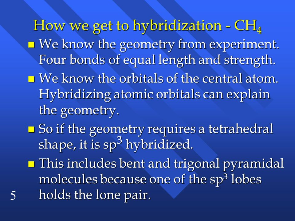 How we get to hybridization - CH4
