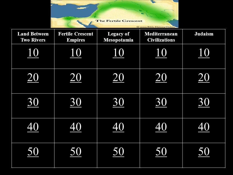 10 20 30 40 50 Land Between Two Rivers Fertile Crescent Empires