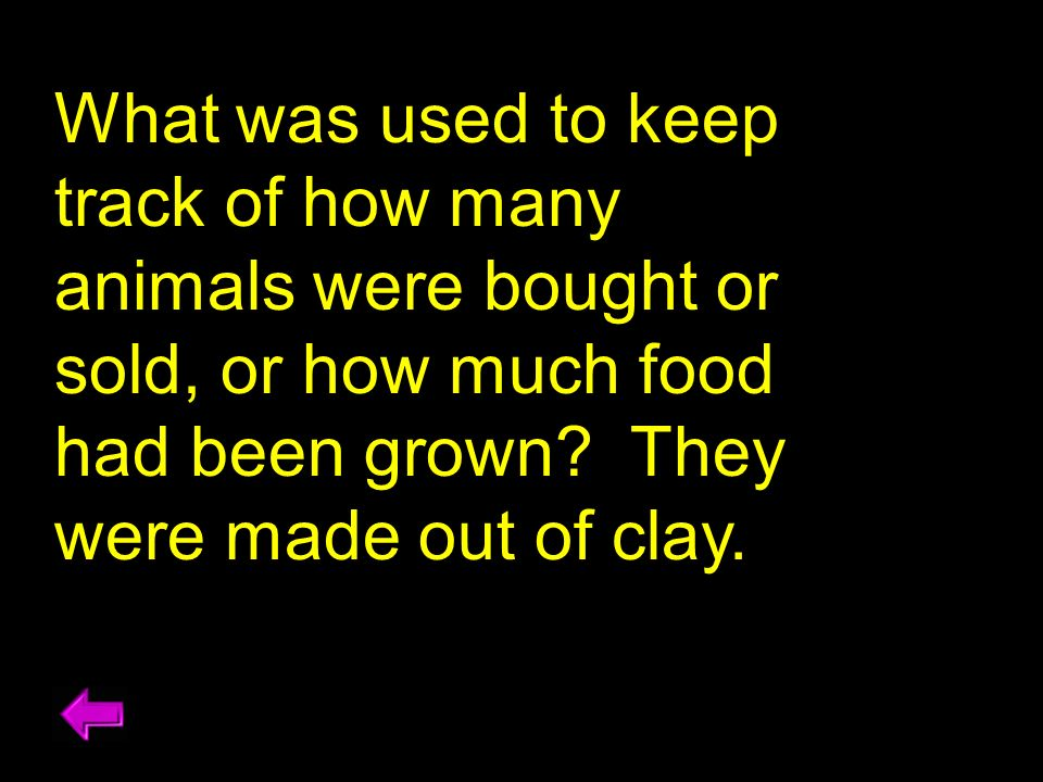 What was used to keep track of how many animals were bought or sold, or how much food had been grown.