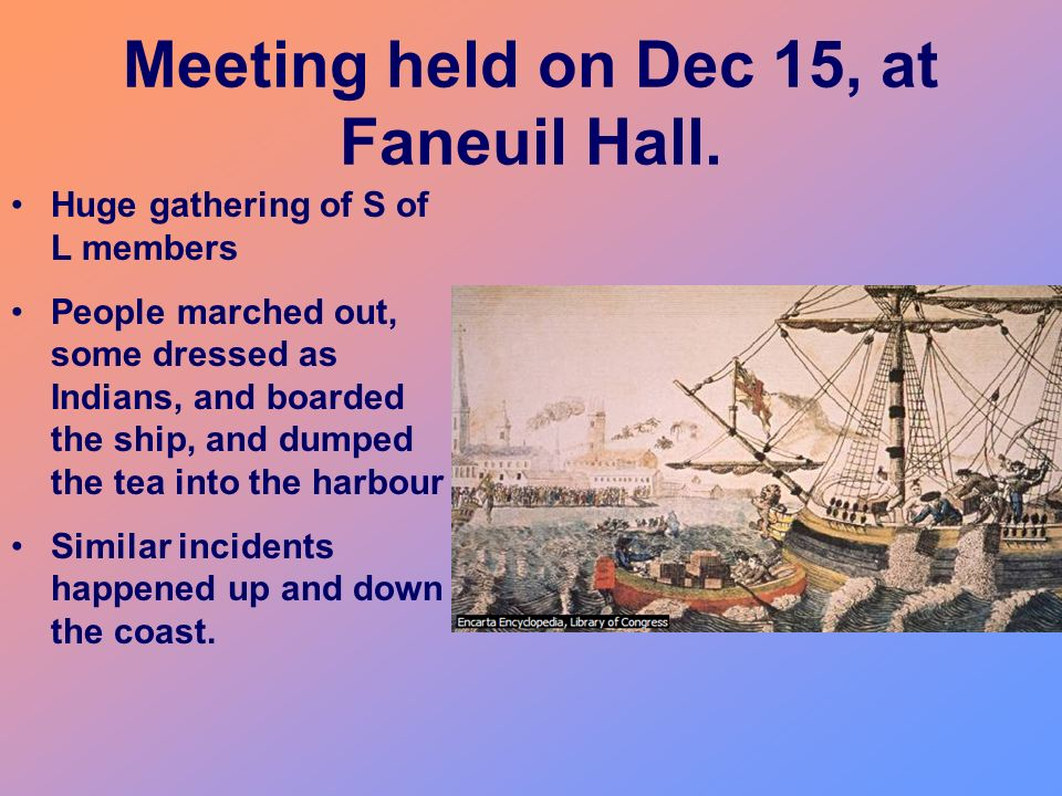 Meeting held on Dec 15, at Faneuil Hall.