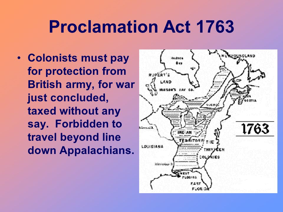 Proclamation Act 1763