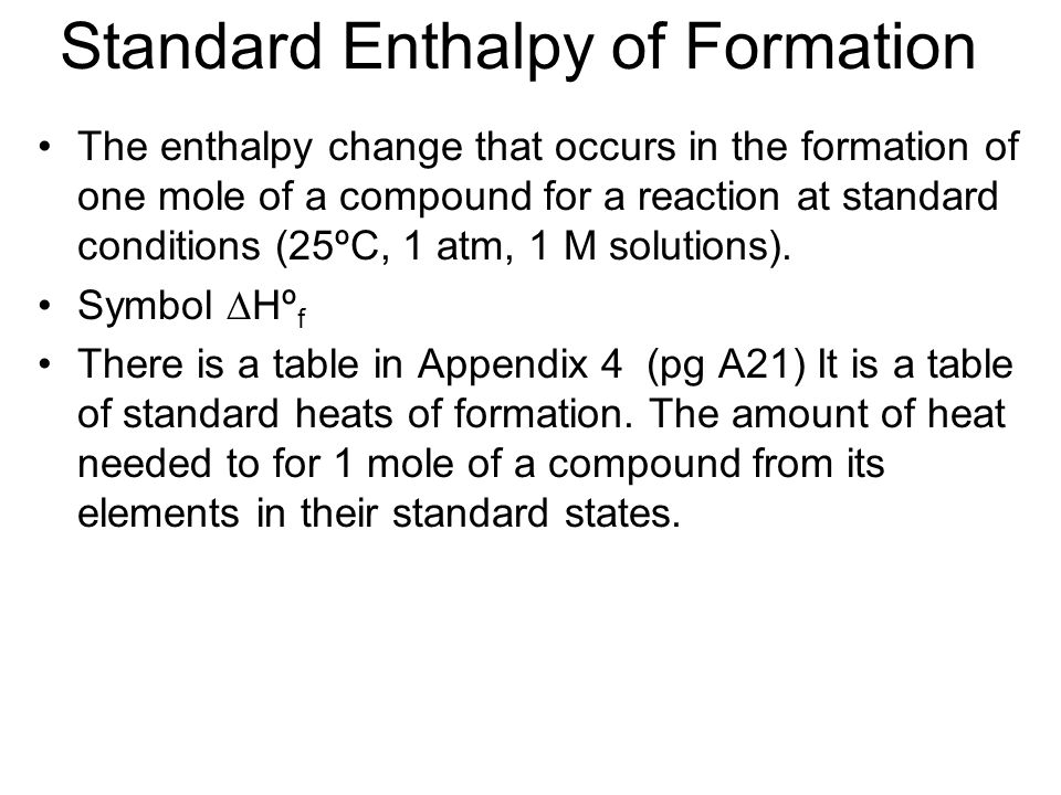 how to calculate enthalpy change of formation of a compound