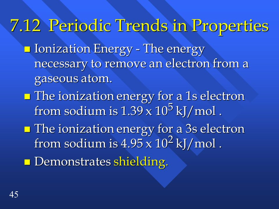 7.12 Periodic Trends in Properties