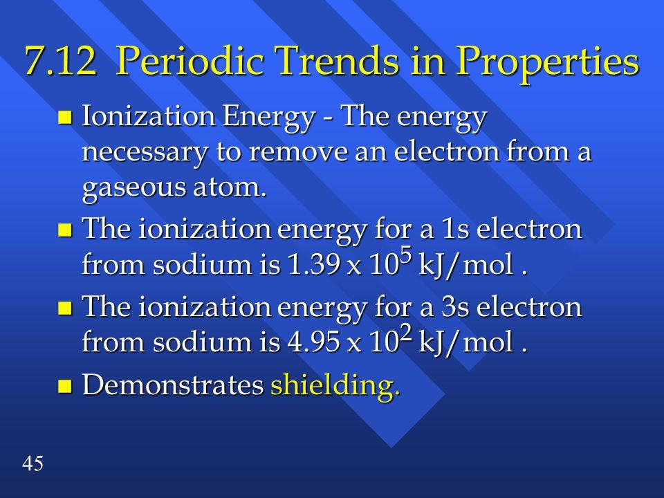 7.12 Periodic Trends in Properties