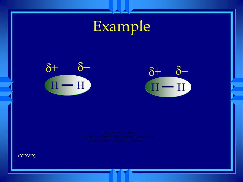 Example H d+ d d- H d+ d- H (YDVD)