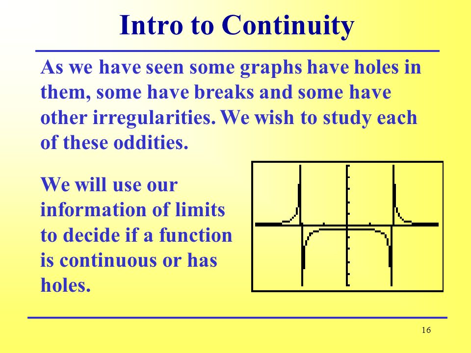 Intro to Continuity