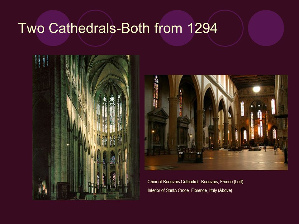 Two Cathedrals-Both from 1294