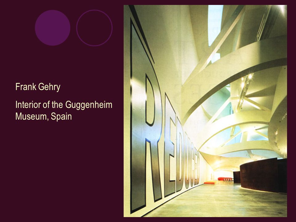 Frank Gehry Interior of the Guggenheim Museum, Spain