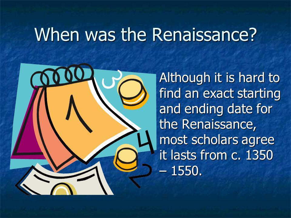 When was the Renaissance