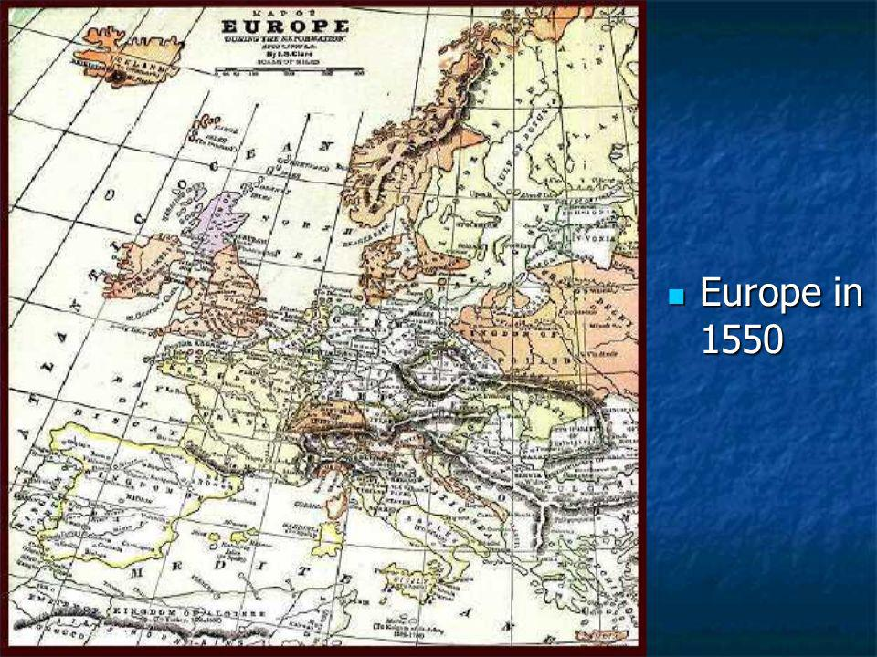 Europe in 1550