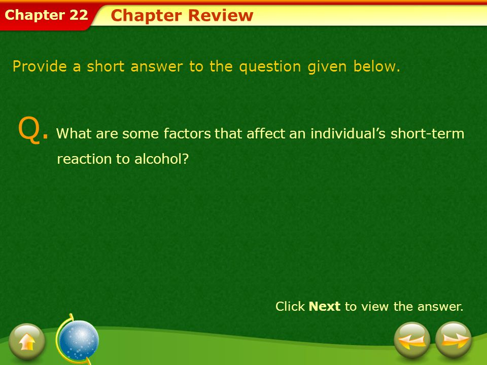 Chapter Review Provide a short answer to the question given below.
