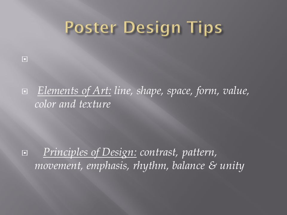 Principles Of Design Value : Graphic design project ppt video online download