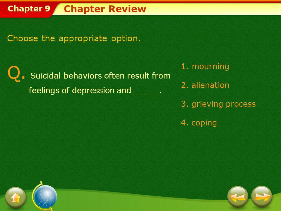 Q. Suicidal behaviors often result from