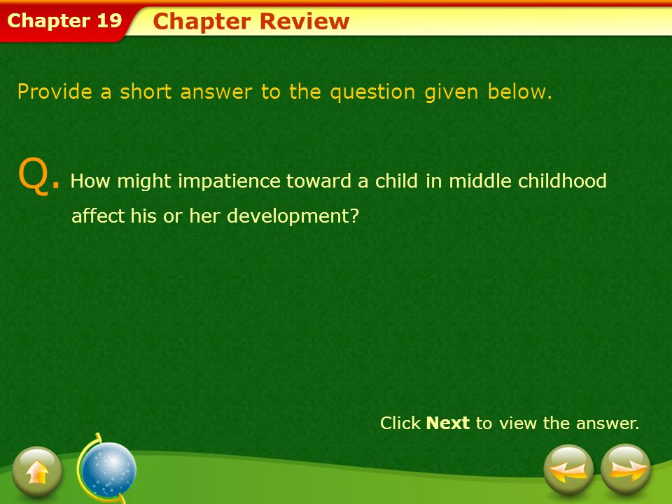 Chapter ReviewProvide a short answer to the question given below.