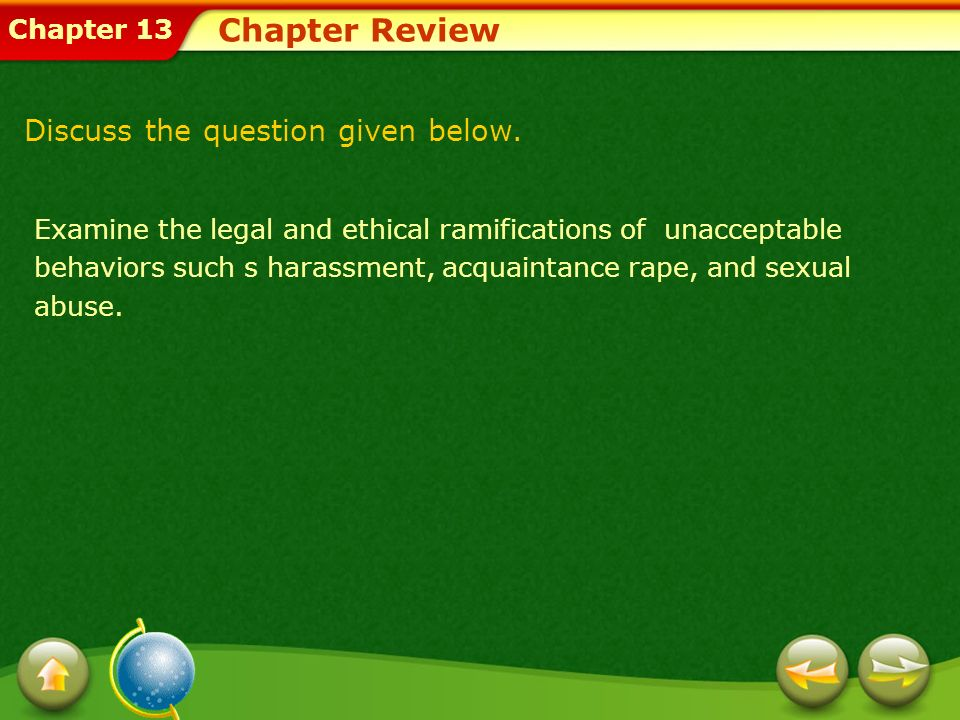 Chapter Review Discuss the question given below.