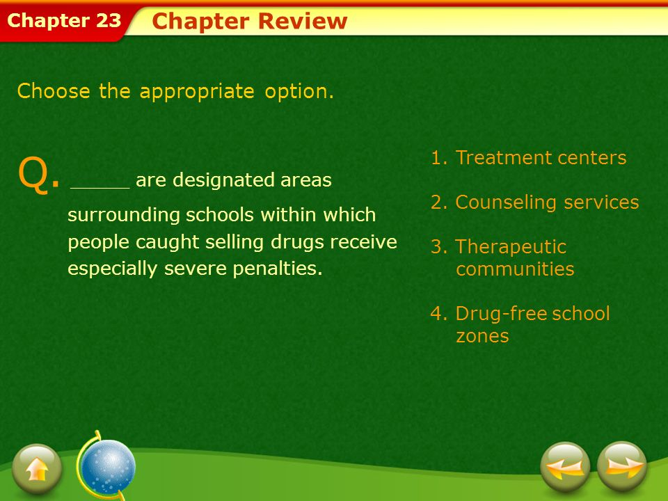 Chapter Review Choose the appropriate option.