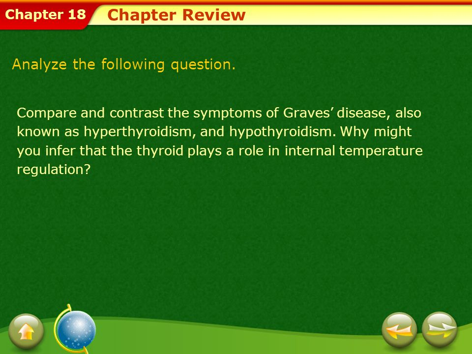 Chapter Review Analyze the following question.
