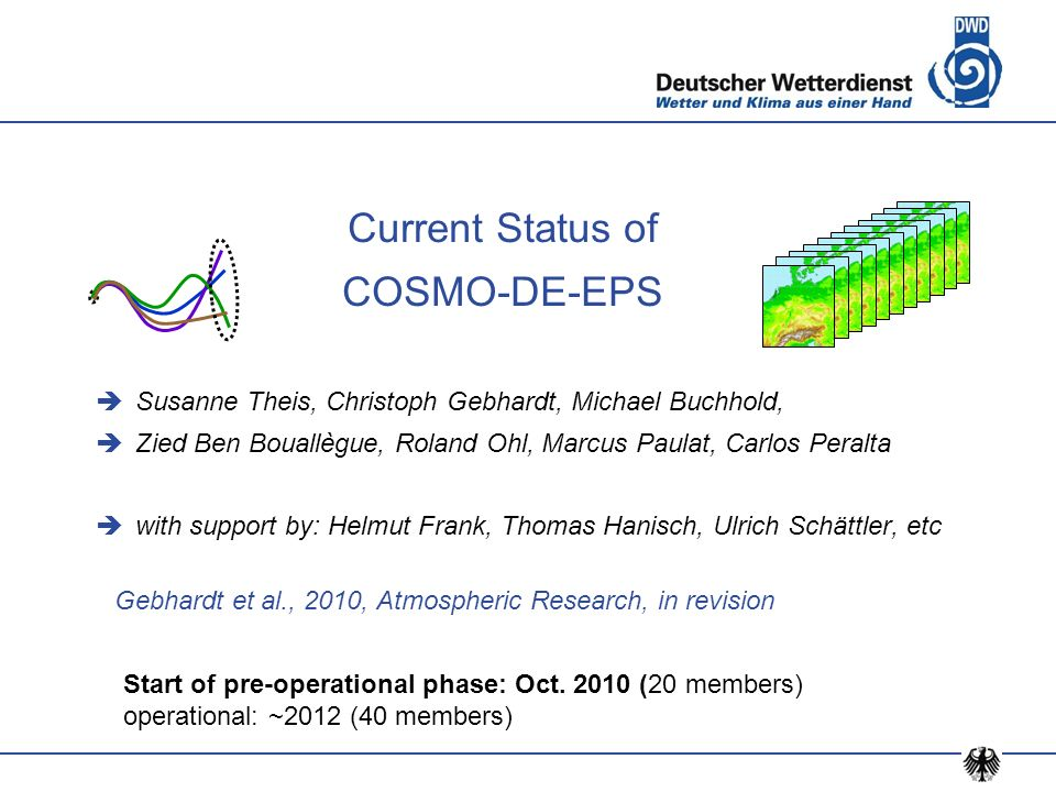 Current Status of COSMO-DE-EPS