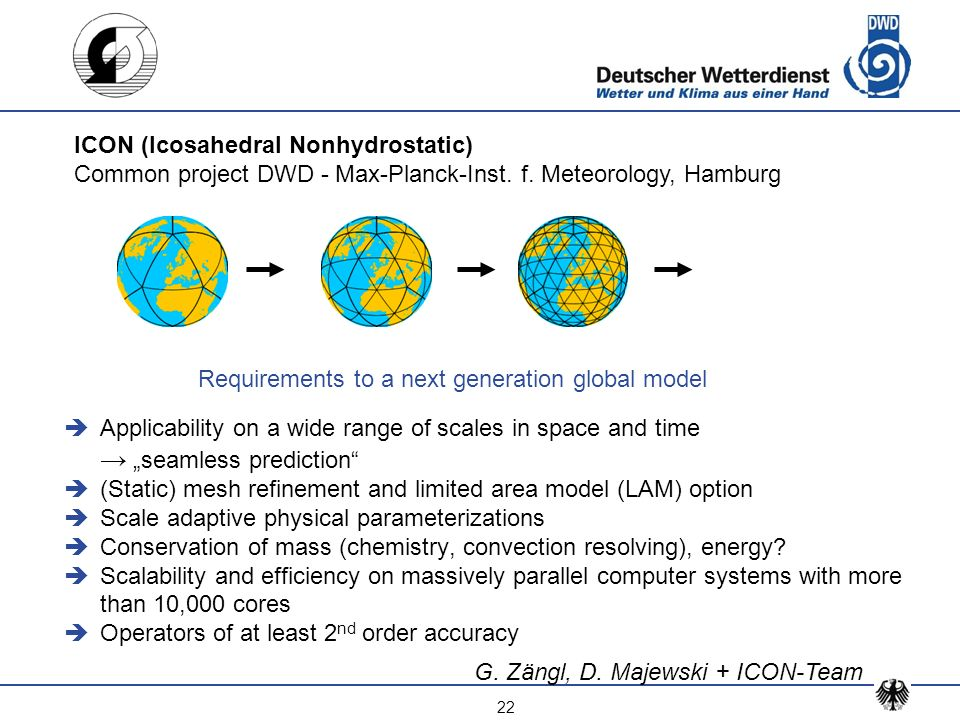 Requirements to a next generation global model