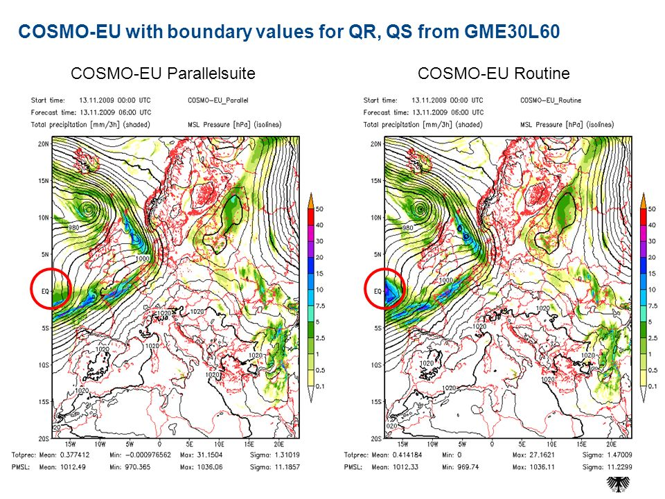 COSMO-EU with boundary values for QR, QS from GME30L60