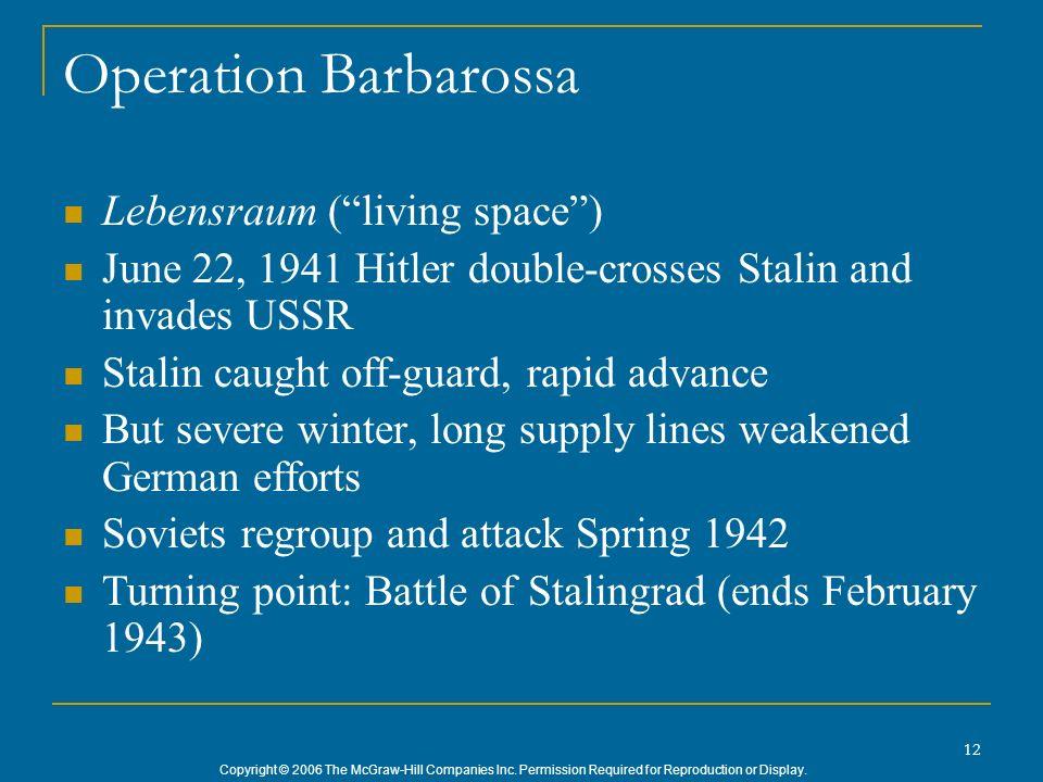 Operation Barbarossa Lebensraum ( living space )