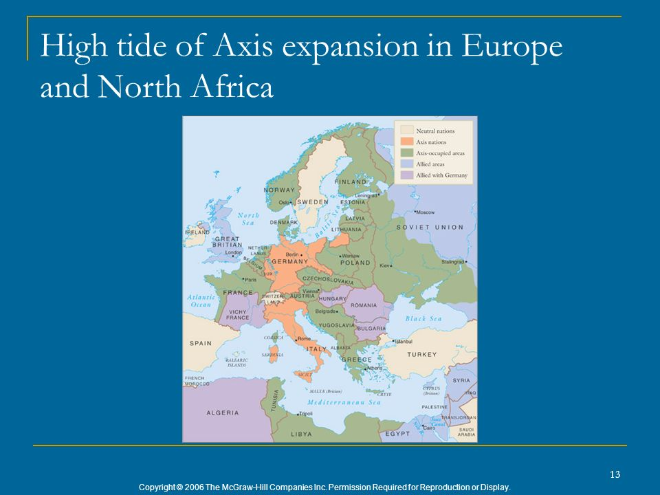 High tide of Axis expansion in Europe and North Africa