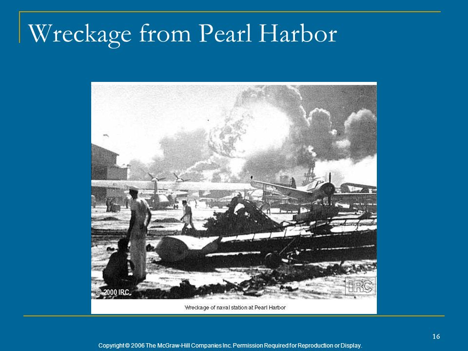 Wreckage from Pearl Harbor
