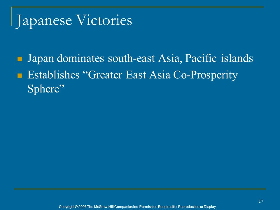 Japanese Victories Japan dominates south-east Asia, Pacific islands