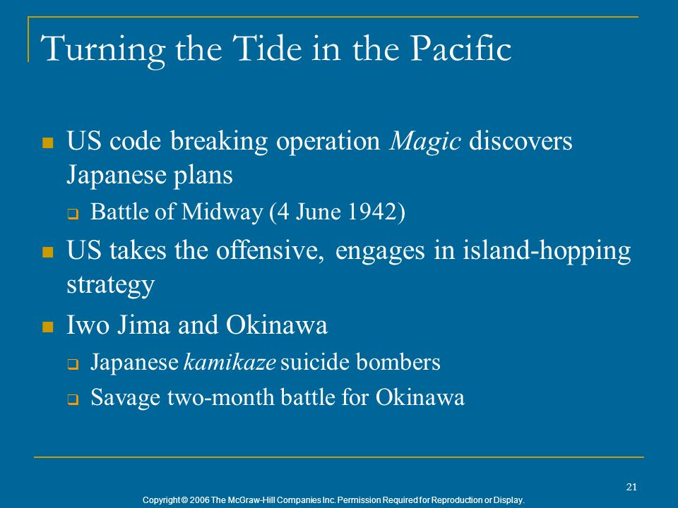 Turning the Tide in the Pacific
