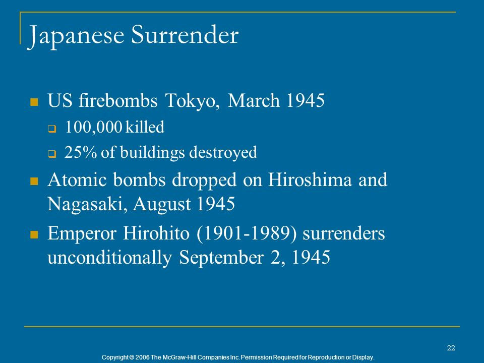 Japanese Surrender US firebombs Tokyo, March 1945