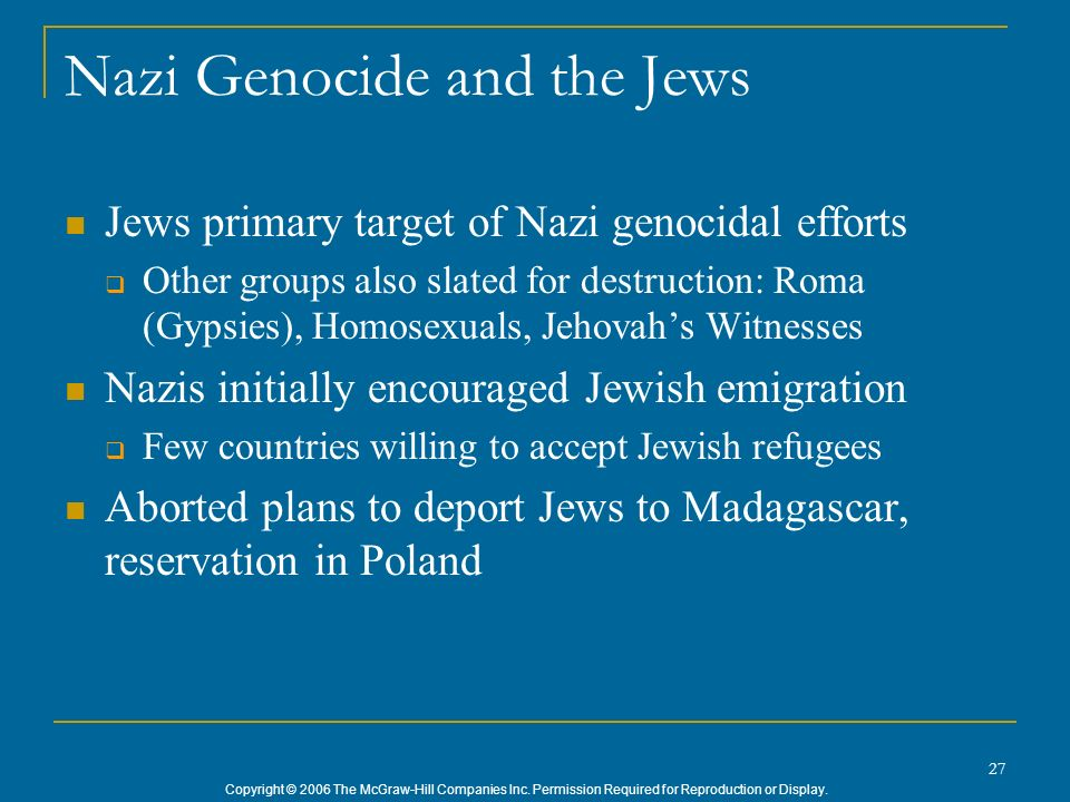 Nazi Genocide and the Jews