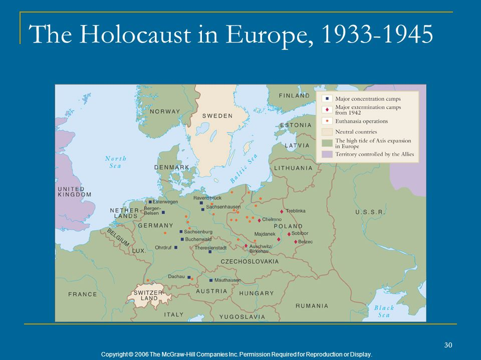 The Holocaust in Europe, 1933-1945