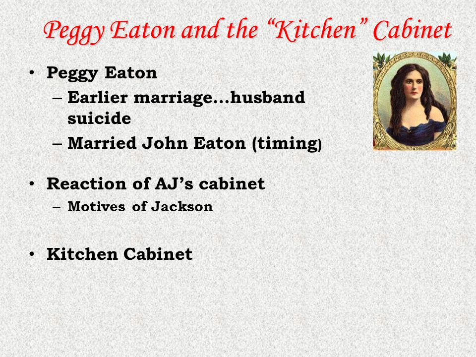 a report of peggy eaton scandal The petticoat affair : manners, mutiny, and sex in andrew peggy eaton martin jackson's quixotic actions turned a social scandal into an extraordinary.