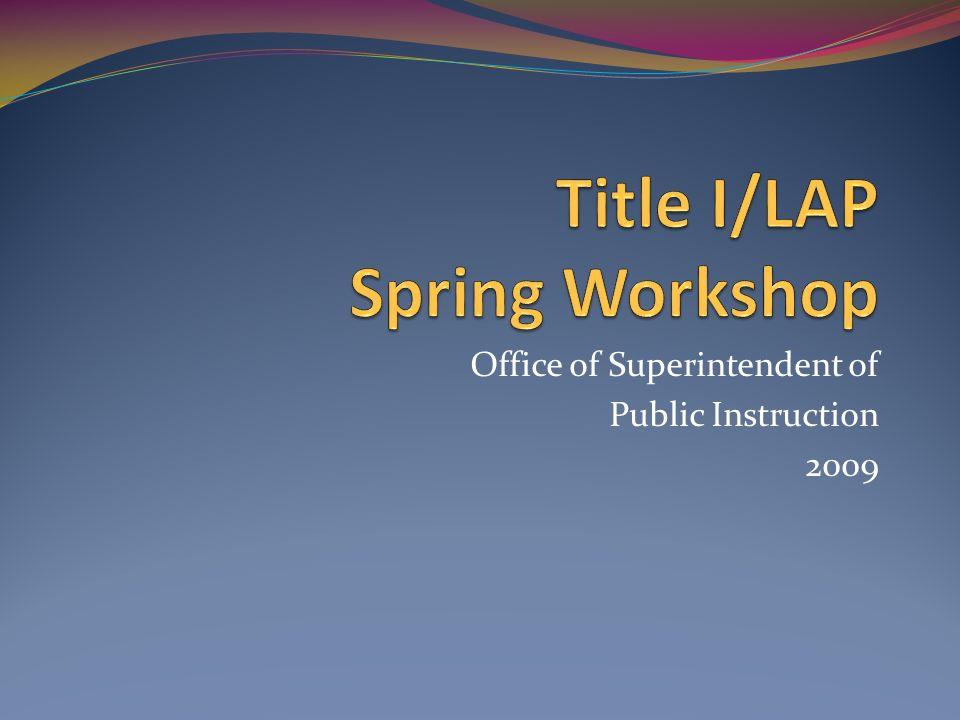 Title I/LAP Spring Workshop