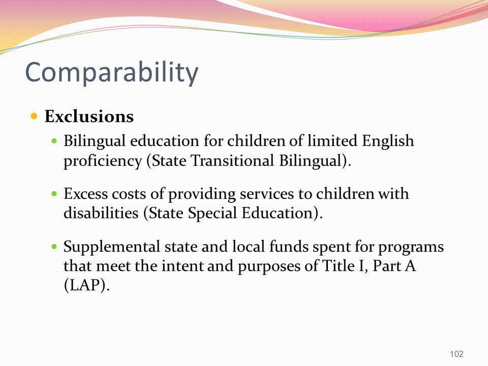 Comparability Exclusions