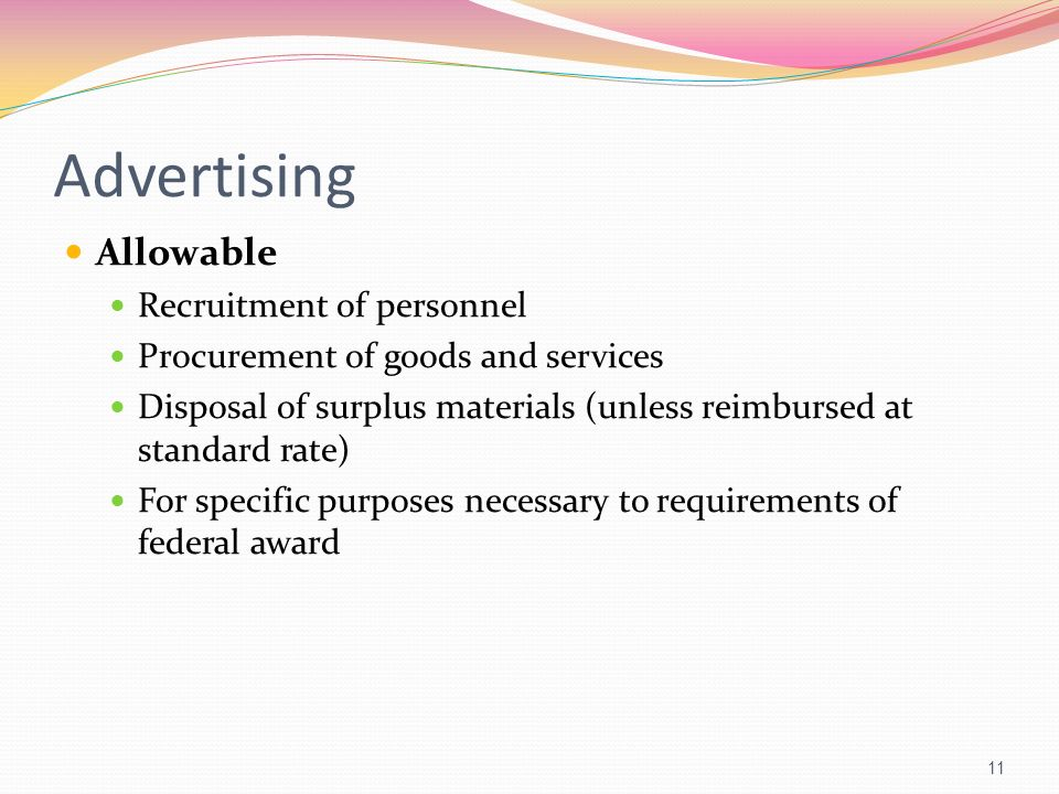 Advertising Allowable Recruitment of personnel