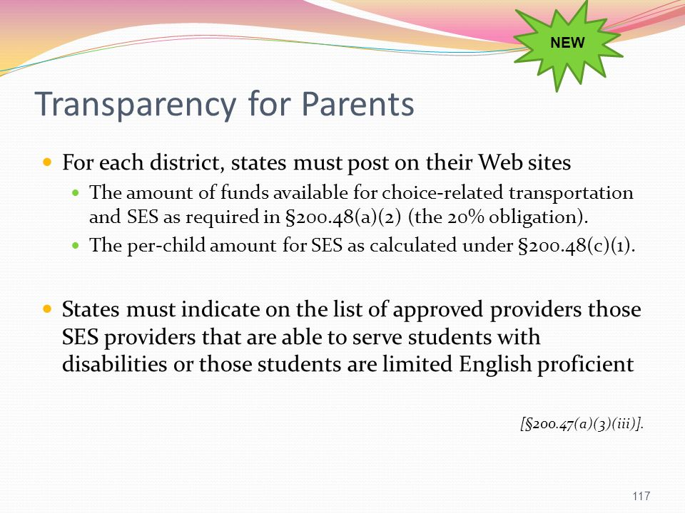 Transparency for Parents
