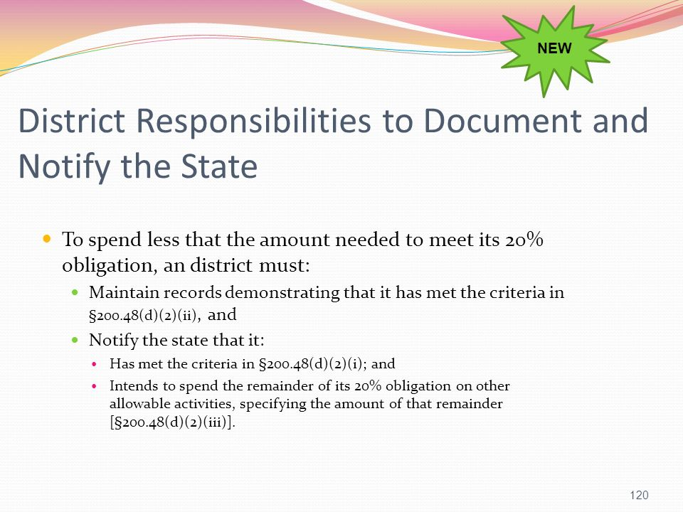 District Responsibilities to Document and Notify the State