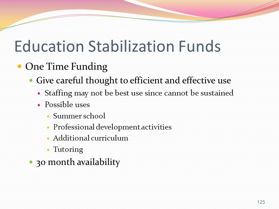 Education Stabilization Funds