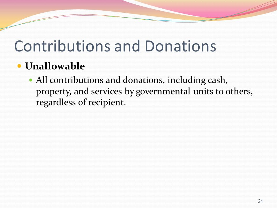 Contributions and Donations