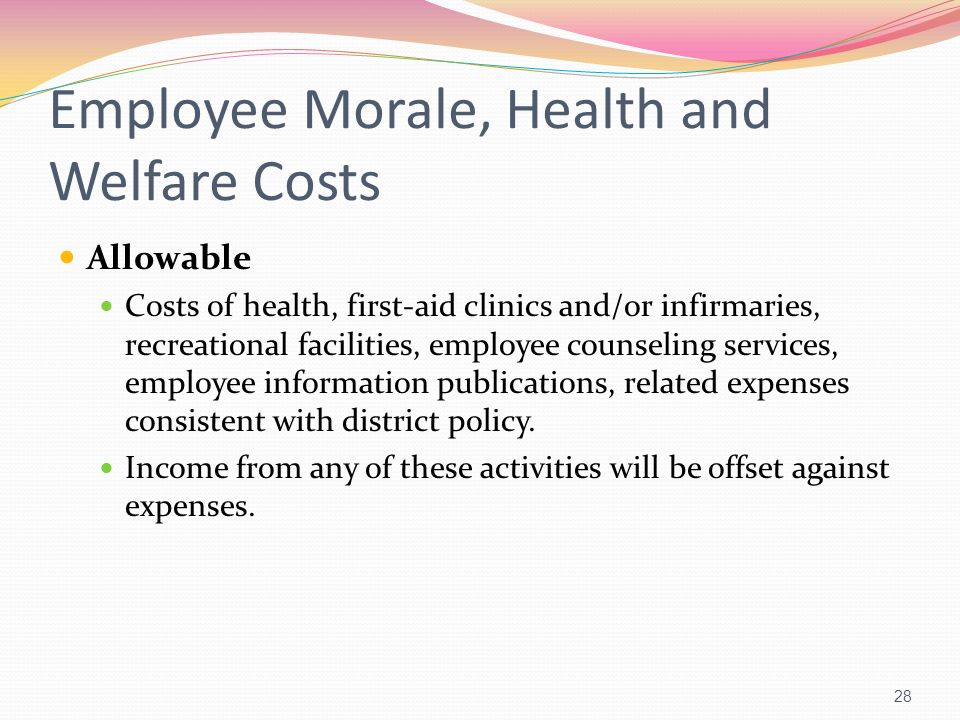 Employee Morale, Health and Welfare Costs