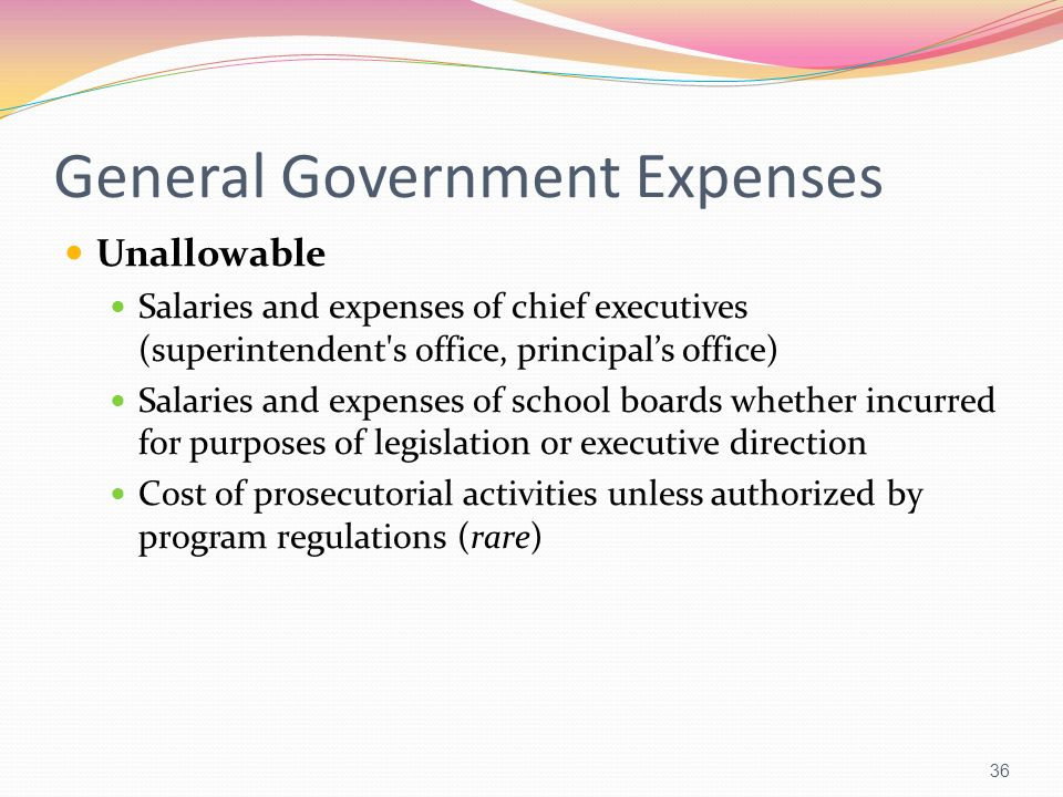 General Government Expenses