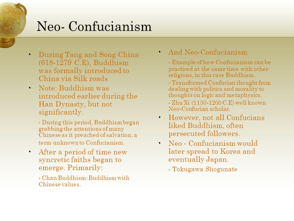 Neo- Confucianism And Neo-Confucianism
