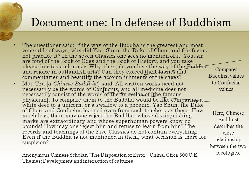 Document one: In defense of Buddhism