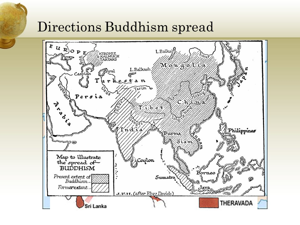 Directions Buddhism spread