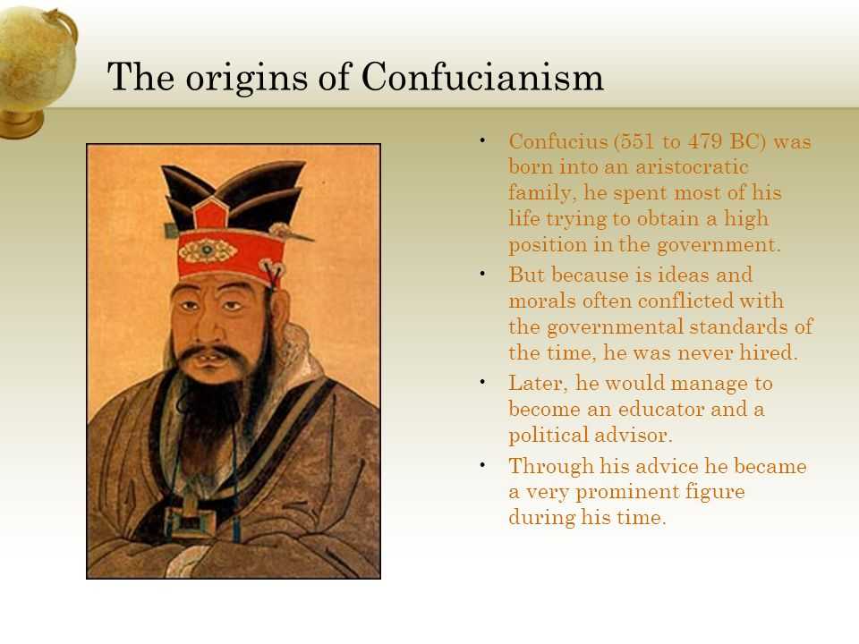 The origins of Confucianism